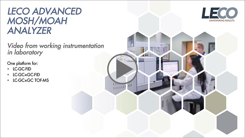 Video LECO Advanced MOSH/MOAH Analyser