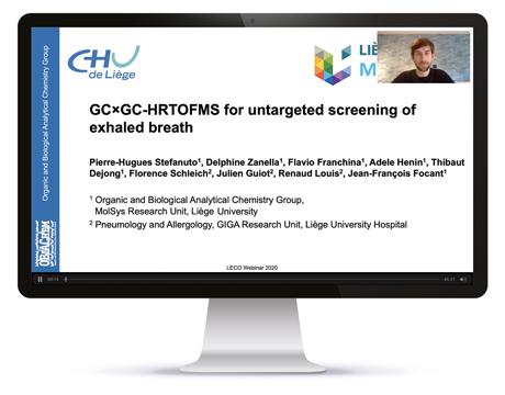 GCxGC-HR-TOFMS for untargeted screening of Breathomics