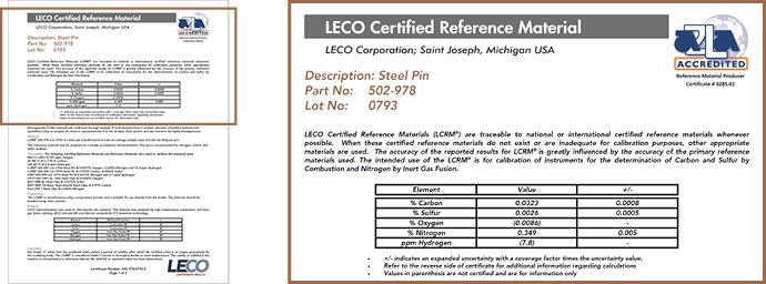 Zertifikate Referenzmaterialien