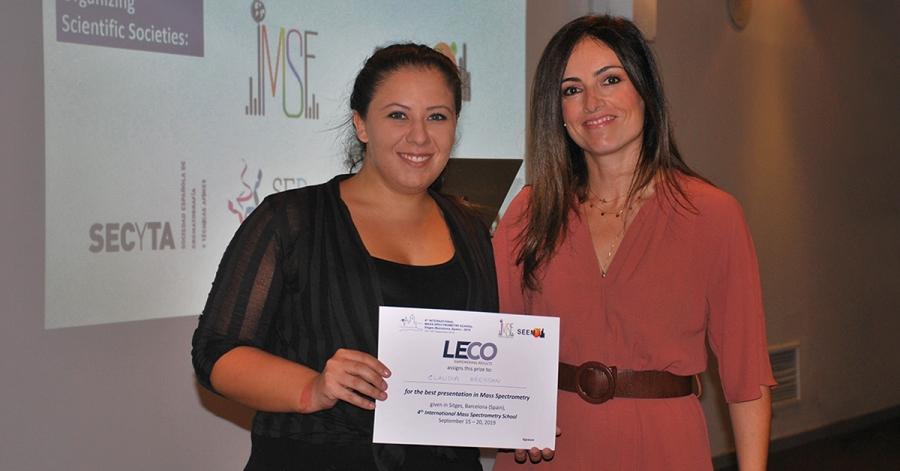 Entrega de premios en la 4.ª Escuela Internacional de Espectrometría de Masas