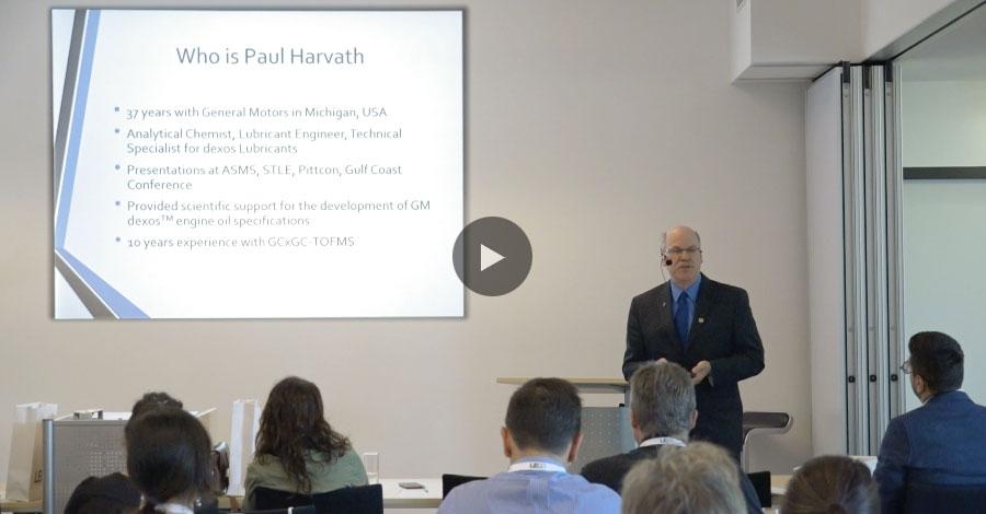 """""""Hodnocení okysličených základových olejů přístrojem GCxGC-TOFMS smodulovaným tokem""""; Paul Harvath"""