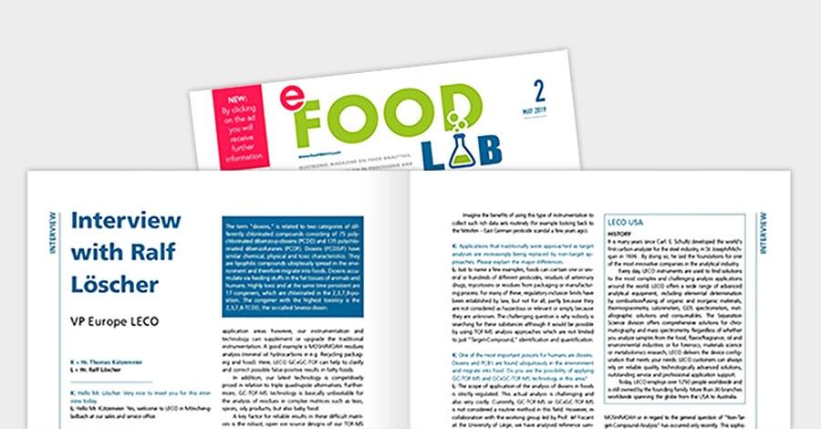 e-Food Lab International // Интервью с Ральфом Лёшером